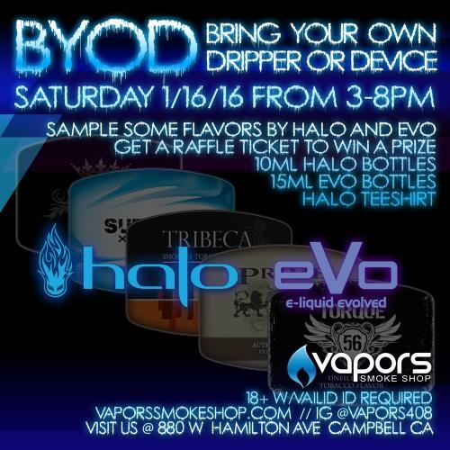 BYOD at Vapors Smoke Shop Flyer